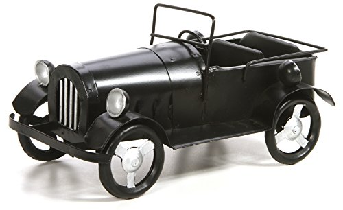 Hosley's 9'' Long, Decorative Tabletop Black Metal Vintage Car. Ideal Gift for Wedding, Home, Party Favor, Spa, Reiki, Meditation, Bathroom Settings. by Hosley (Image #1)