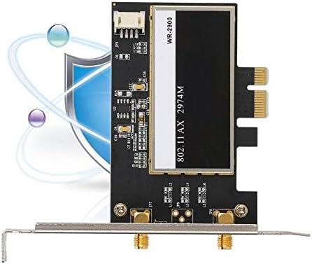 Tarjeta de red Gigabit PCI-E con 2x6dBi MIMO, tarjeta PCIe WLAN ...