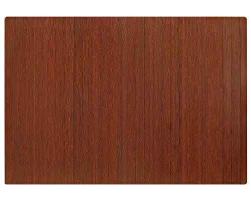Anji Mountain AMB24043 Bamboo Roll-Up Chairmat without Lip, Dark Cherry, 60 x 48-Inch