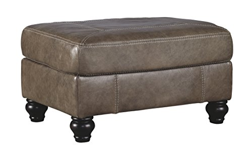 Cheap Ashley Furniture Signature Design – Kannerdy Contemporary Faux Leather Ottoman – Quarry Brown