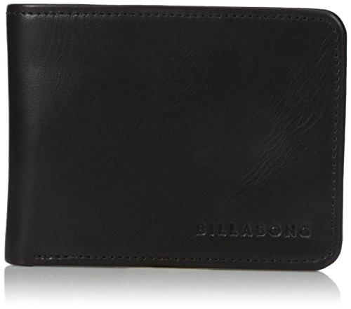 Billabong Men's Slicker Slim Wallet Black One Size (Billabong Card Wallet)