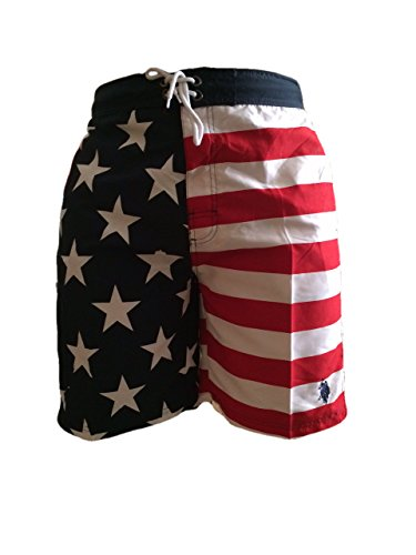 American-USA-Flag-Swim-Trunks-Us-Polo-Association-Swimwear