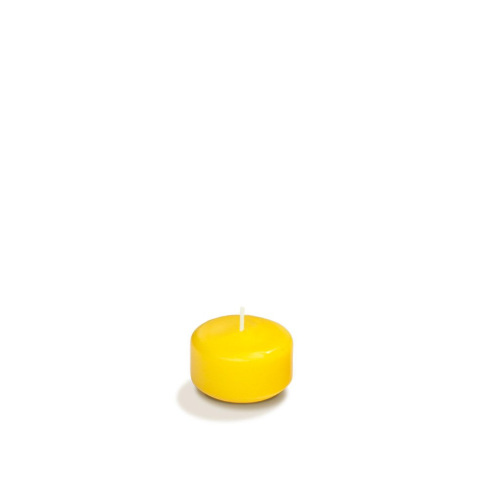 Case of 120 - Yummi 1.75'' Bright Yellow Floating Candles