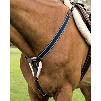 (Dover Saddlery Elastic Jumper Breastplate, Horse, Brown)