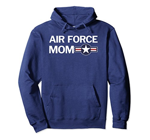 Unisex US Air Force Mom with Vintage Aircraft Roundel Hoodie Large (Vintage Us Air)