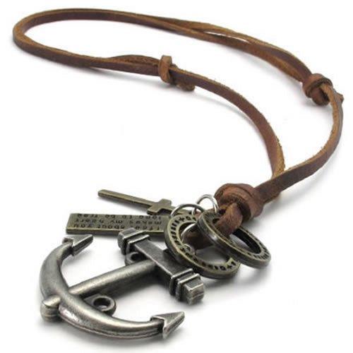 vintage anchor necklace - 2