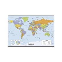 RoomMates World Map Dry Erase Peel and Stick Giant Wall Decals