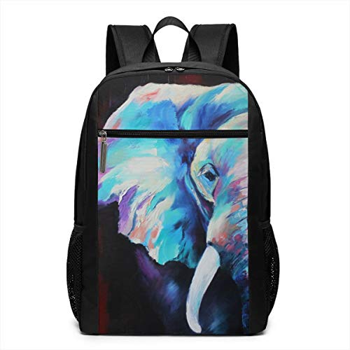 TRMdesign Elephant Oil Durable Laptop Backpack Fit 17 Inch for School Or Men and Women