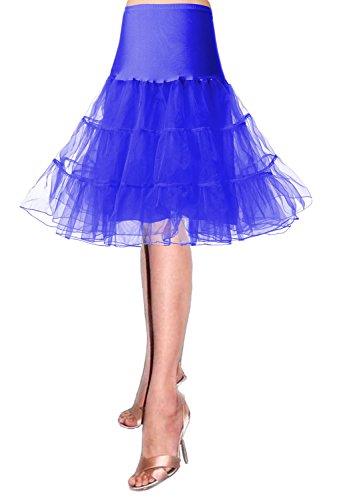 Intimo Blu Donna Crinolina Tutu Skirt Tulle Sottogonne Gonna Swing Gonne Sottogonna Retro Vintage Petticoat 50s Annata Sottovesti E Modellante Da qwOz0H