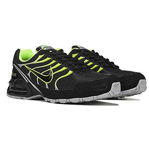 (NIKE Men's Air Max Torch 4 Running Shoe Black/Volt/Atmosphere Grey Size 12 M)