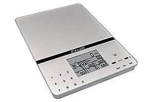 Escali 115NS Portable Nutritional Tracker Digital Scale 11 Lb /5 Kg, Silver Grey
