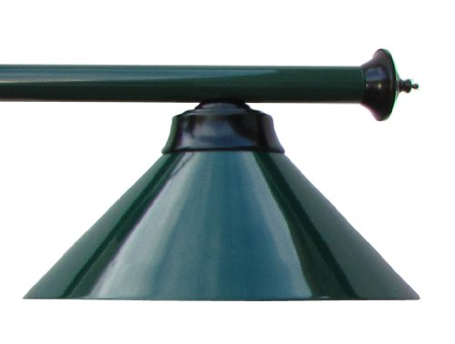 59'' Metal Pool Table Light Billiard Lamp Green Burgundy or Black for 7 or 8 ' Foot Tables (Green) by Iszy Billiards (Image #1)