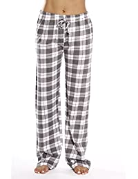 a029a046d9c5 100% Cotton Jersey Women Plaid Pajama Pants Sleepwear