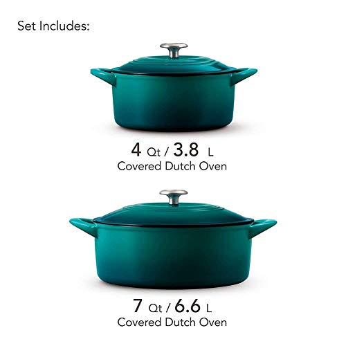 Tramontina 80131/679DS Iron Round Oven 2-Piece Teal