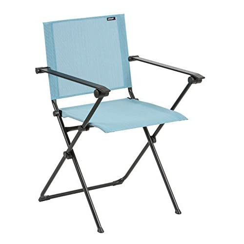 Cheap Lafuma Anytime Folding Armchair - Black Steel Frame with Aqua Batyline Duo Fabric supplier