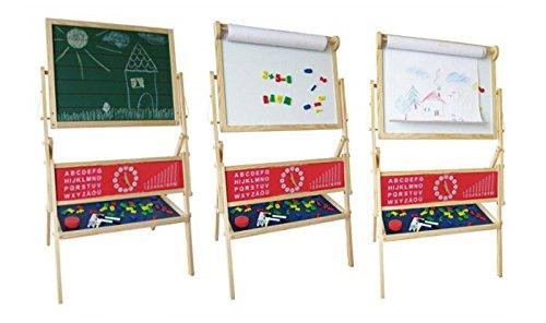 Maltafel für Kinder Standtafel Magnettafel mit Papierrolle viel Zubehör