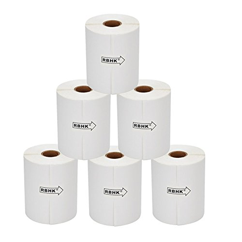 RBHK Thermal Shipping Labels 250 4x6,compatible Zebra 2844 Zebra 2843 2844z Eltron,6 Rolls