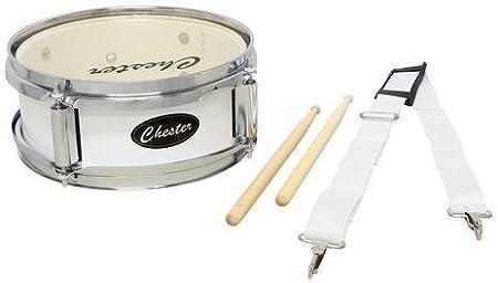Chester F893000 - Tambor de marcha infantil, color blanco: Amazon.es: Instrumentos musicales