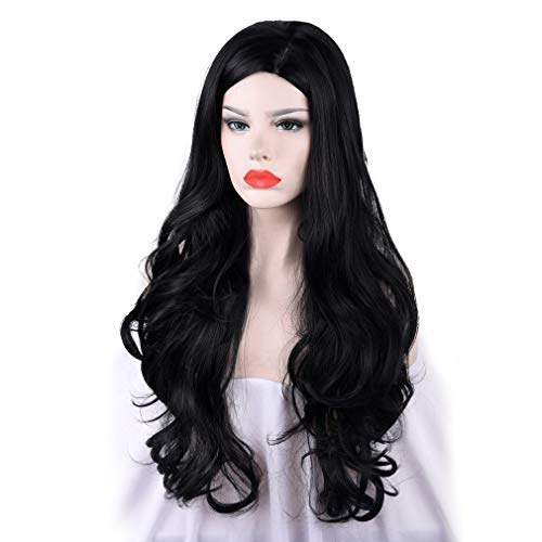 SEIKEA-Long-Wavy-Wig-for-Women-Blue-Mixed-Black-Side-Part-Dark-Heat-Resistant-Root-30-Inch