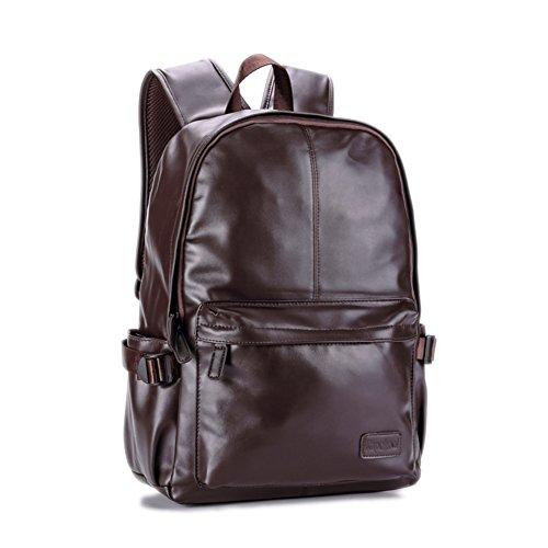 Mochila casual hombres/[mochila]/Bolso de la computadora/Bolsas de la escuela/PUBolsa de cuero-B B