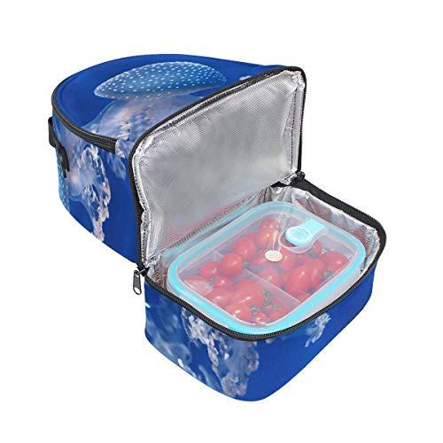 almuerzo para Bolsa ajustable térmica de el hombro Jellyfish Alinlo con correa q8TtwA