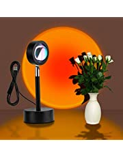 Sunset Projection Lamp, Livelit Sunset Light with 180° Rotation Projector Floor Lamp, USB Supply Modern Visual Aesthetic Lamp Night Light for Living Room, Bedroom, Party, Home/Wall Decor and More… (Sunset Red)