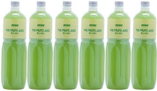 【業務用】 100% 青りんごジュース 1L ペットボトル×6本