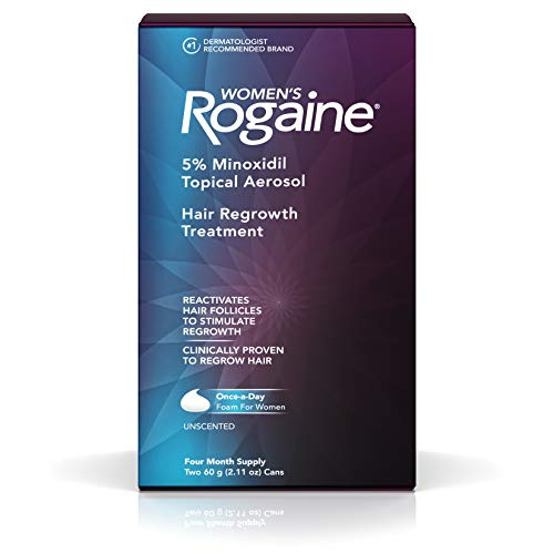 Women's Rogaine 5% Minoxidil Foam for Hair Thinning and Loss, Topical Treatment for Women's Hair Regrowth, 4-Month Supply ()