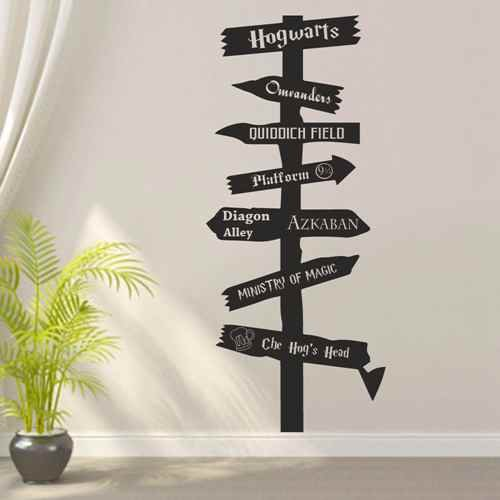 Harry Potter Inspired Wood Road Sign Wall Decal Hogwarts Hogsmeade Vinyl  Wall Art Home Decor (Black,xs): Amazon.ca: Home U0026 Kitchen