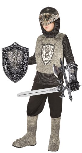Gauntlets Costume Silver (Knight (Silver) Child Costume Kit, One Size (Fits Sizes 4-8),)