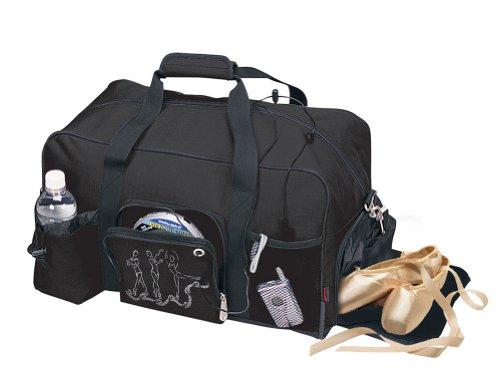 Dance Bag Clip - Horizon Dance 4366 Large Black Duffel Bag for Adults