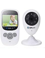 SUNLUXY WIFI Überwachungskamera Wireless Babyphone Baby Monitor mit 2.4 Zoll LCD Farb Display Nachsicht 2-Wege-Gegensprechfunktion mit 2X Digitalzoom.