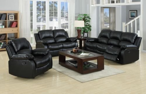 BRAND NEW VALENCIA BONDED LEATHER RECLINER SOFA 3+2 suite in BLACK & BRAND NEW VALENCIA BONDED LEATHER RECLINER SOFA 3+2 suite in BLACK ... islam-shia.org
