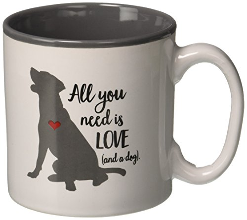 - Mug for Dog Lover, Imprint: All You Need is Love and A Dog, 13 oz Ceramic