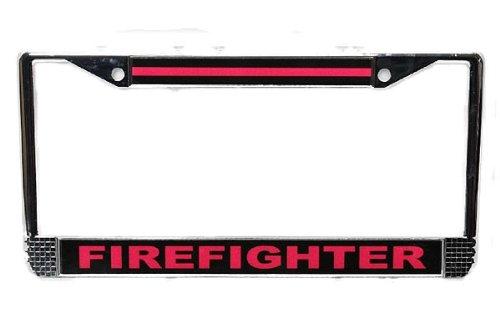 license plate frame firefighter - 7