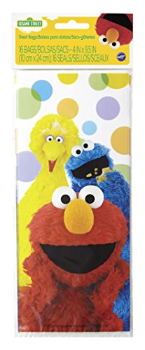 Wilton 1912-3470 16 Count Sesame Street Treat Bags, Multicolor]()