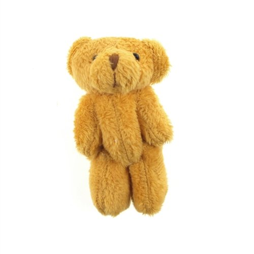 Homeford Firefly Imports Miniature Jointed Teddy Bear, 3-Inch, 3-Pack, Brown