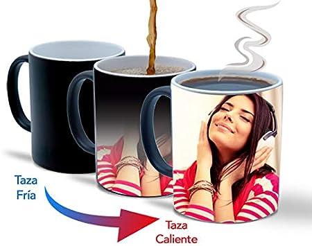 Taza mágica Personalizada con Fotos y Texto   Taza de cerámica Que Muestra tu Foto o diseño Cuando se Caliente