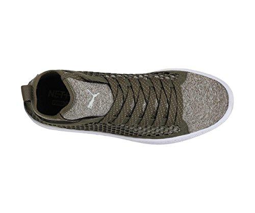 Puma Basket Classic Netfit Sneakers Verde Bianco 364249-03 - 46, Verde