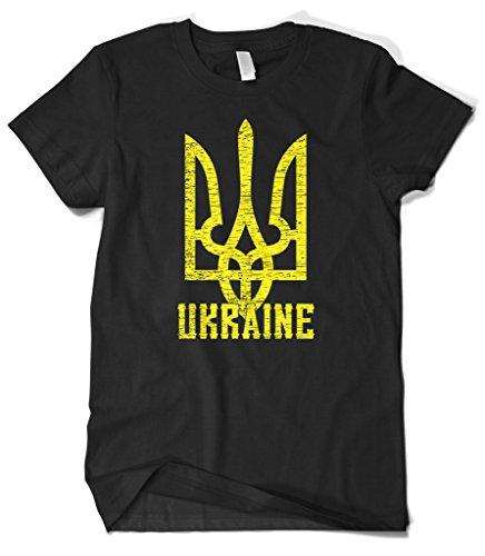 - Cybertela Men's Ukraine Coat Of Arms T-Shirt (Black, Large)