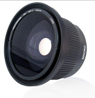 .42x HD Super Wide Angle Panoramic Macro Fisheye Lens For The Olympus OM-D E-M5, PEN E-PM2, E-PL5 Digital SLR Camera Which Have Any Of These (9-18mm, 12-50mm) Micro Olympus Lenses