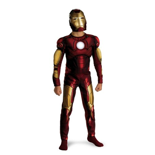 [Marvel's Iron Man Movie Classic Muscle - Size: Child L(10 - 12)] (Famous Superhero Costumes)