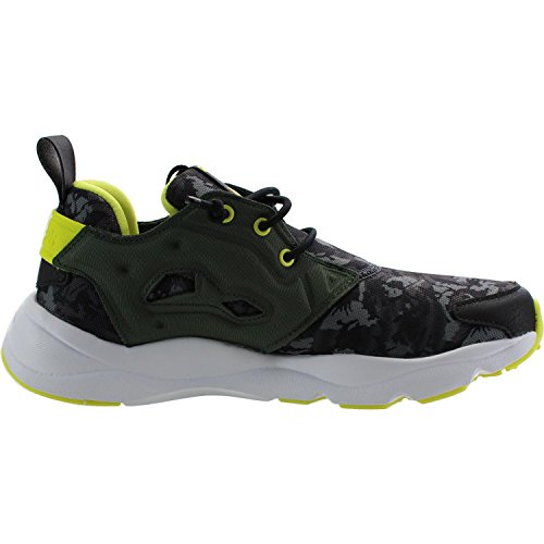 Reebok Classic FuryLite CQ Graphic Primal Green Mesh Youth Trainers Primal Green