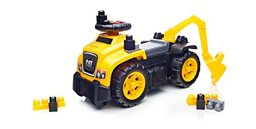 Mega Bloks Ride On Caterpillar with Excavator