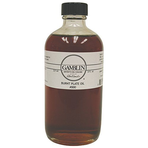 Gamblin Burnt Plate Oil #000 8 Oz by Gamblin