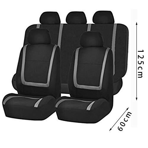 Sen-Sen 9PCS Universal Autositzbez/üge Full Set Kunstleder Split Airbag R/ücksitze grau