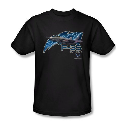 - Trevco Men's Air Force Short Sleeve T-Shirt, F35 Black, Large