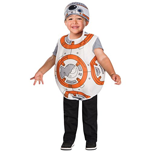 Bb 8 Costume Toddler (Star Wars BB-8 Toddler Boys Costume by Rubies (Size 2T - 3T / 2 - 3 Years))
