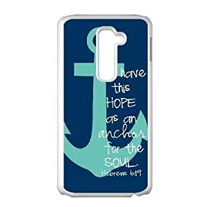 Unique Phone Cases Ypbmb LG G2 Cell Phone Case White Anchor Quotes Plastic Durable Cover