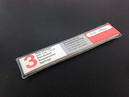 KEVNATSS Schatz 53 400 Day Clock Horolovar .0023 Suspension Spring 3 Piece Pack